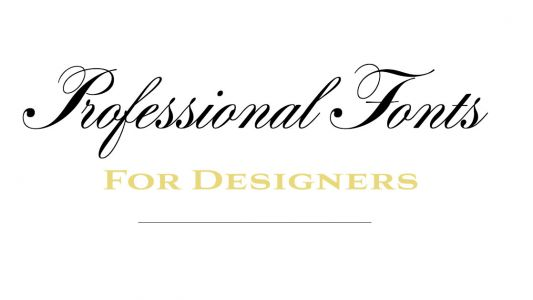 12 professional fonts for designers