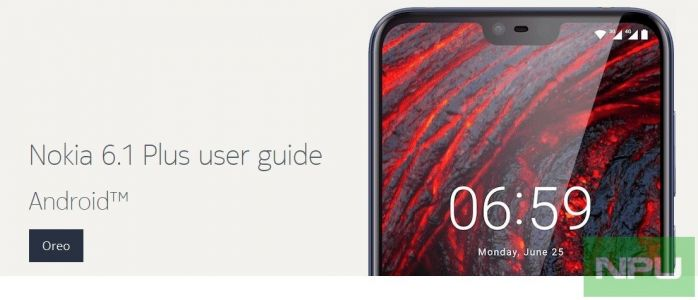 Nokia 6.1 Plus User Guide with Indian SAR information spotted. Coming sooner than expected?