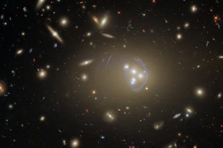 Hubble captures giant galaxy cluster that could help us understand dark matter