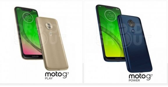 Press renders for the Motorola Moto G7 smartphone series have leaked