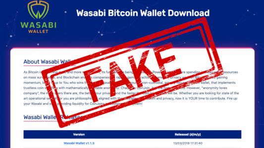 PSA: Don't use this fake Wasabi wallet to store your Bitcoin