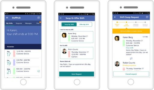 StaffHub app for Android, iOS connects workers' smartphones to Microsoft's cloud