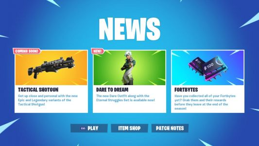Fortnite 9.40 Update, New Tactical Shotguns Now Live