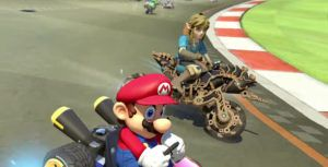 Link rides into 'Mario Kart 8 Deluxe' on his Master Cycle Zero
