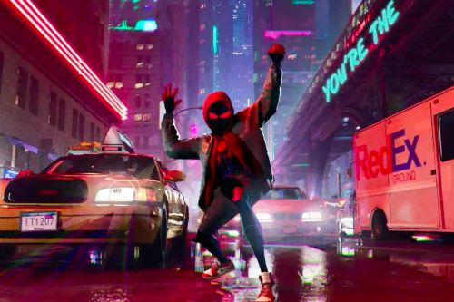To see this gorgeous new Into the Spider-Verse footage, you must endure Post Malone