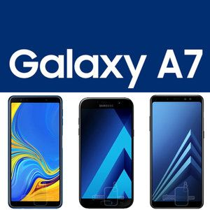 Galaxy A7 2018 vs A7 2017 vs A8+ specs and size comparison