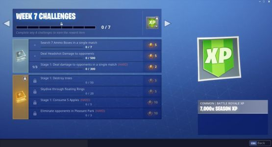 Fortnite Week 7 Challenges: Skydive Through Floating Rings, Destroy Trees, And More