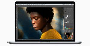 2018 13-inch MacBook Pro with Touch Bar features four full-speed Thunderbolt 3 ports