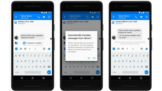 Facebook launches auto-translate in Messenger for English, Spanish