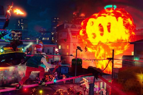 Over-the-top shooter Sunset Overdrive is out today on PC