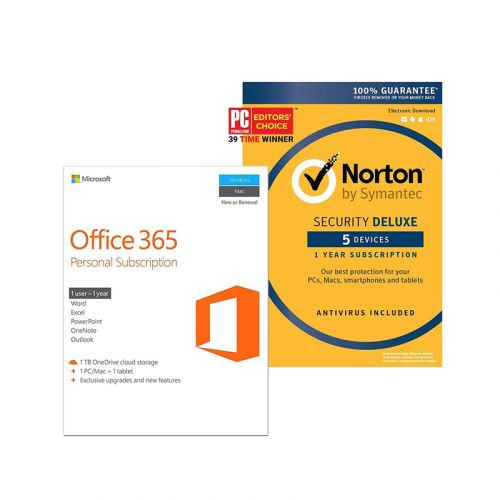 Grab Microsoft Office 365 Personal and Norton Security Deluxe for $75