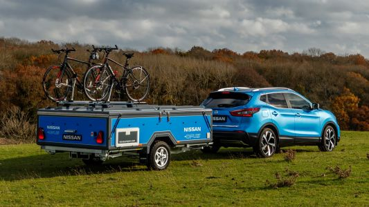 Nissan camper trailer uses recycled electric car batteries to fuel off-grid adventures