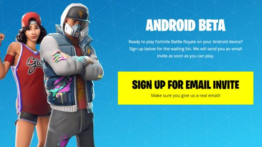 You can now sign up to play Fortnite for Android on non-Samsung devices