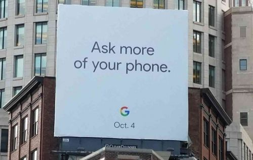 Google billboard appears to tease October 4th reveal date for new Pixel 2 phones