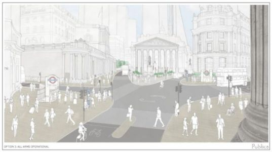 Plans to pedestrianise Bank junction in the City of London