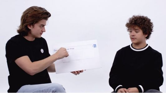 Watch Joe Keery And Gaten Matarazzo Answer The Web's Most Searched Questions And Bro Out