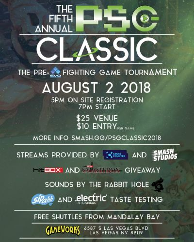 Press Start Gaming Center's PSG Classic returns for its fifth year as a Thursday night pre-Evo tournament