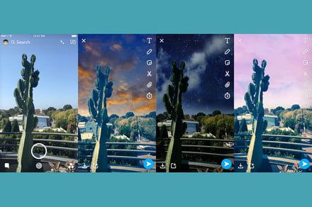 Snapchat sky filters let you turn skies from boring to majestic with a swipe
