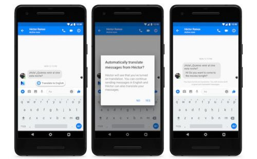 Facebook Messenger:  l'intelligence artificielle traduit les messages