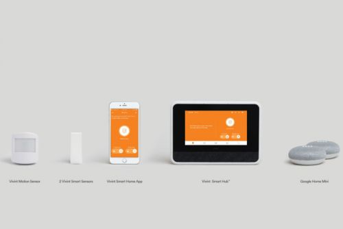Vivint Smart Home bundles two Google Minis with its starter kits, nudging users toward voice control