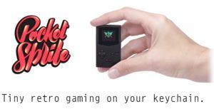 The PocketSprite is a keychain-sized device that lets you play Game Boy games