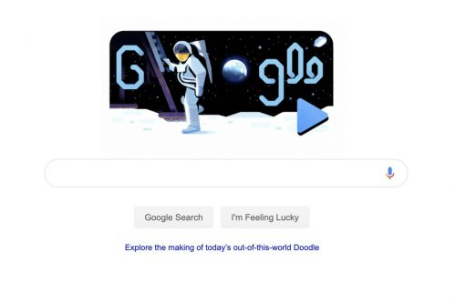 Apollo 11 astronaut Michael Collins narrates an adorable Google Doodle
