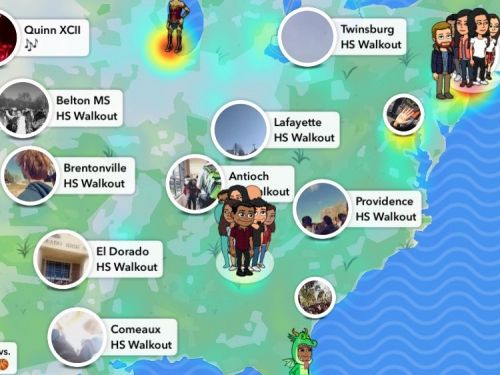 Snapchat's Maps feature visualized the national student walkouts against gun violence in a stunning way