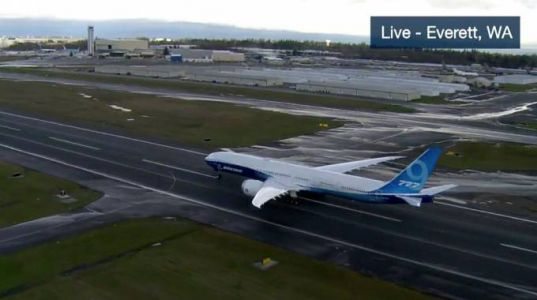 Wind just ruined the Boeing 777X's majestic first flight