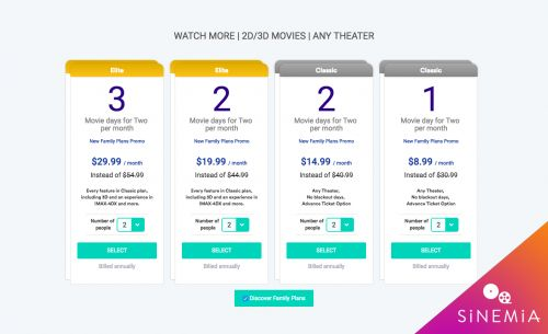 MoviePass competitor Sinemia intros family plans starting at $9