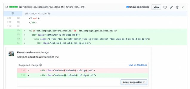 GitHub launches Suggested Changes to make it easier to collaborate within pull requests