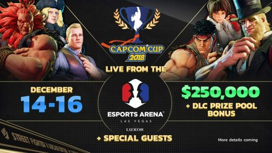 Capcom Cup 2018 will take place at Esports Arena in Las Vegas on December 14-16