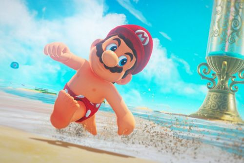 Super Mario Odyssey special edition Nintendo Switch coming, and Mario in the buff