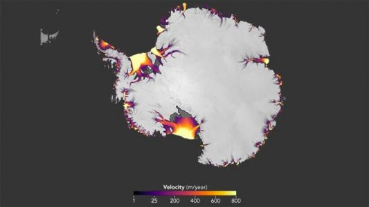 NASA study highlights Antarctic ice flow changes