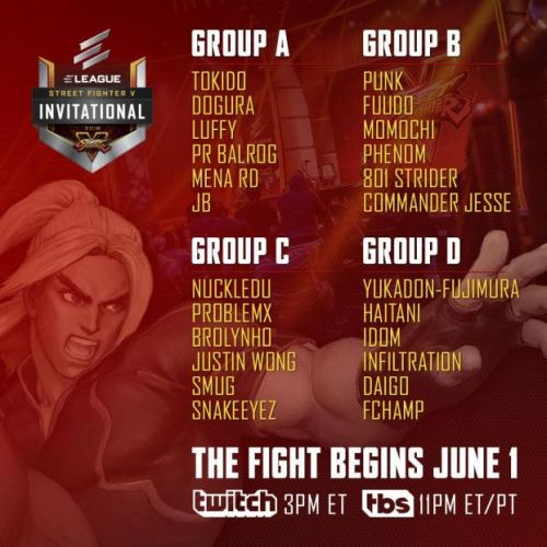 ELEAGUE 2018 Street Fighter V Invitational streaming live on Twitch