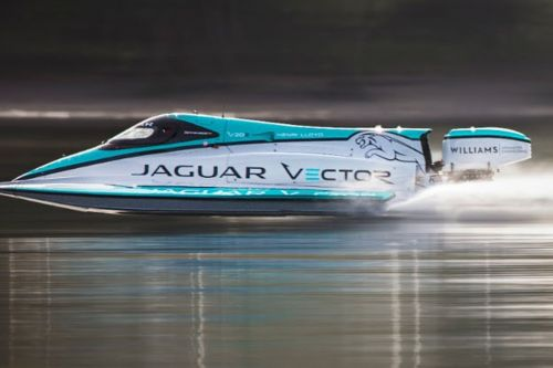Jaguar broke a world record with this tiny electric boat