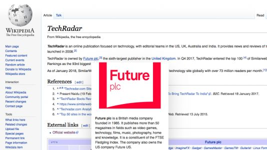 Wikipedia adds page previews to stop you falling down a link-clicking rabbit hole