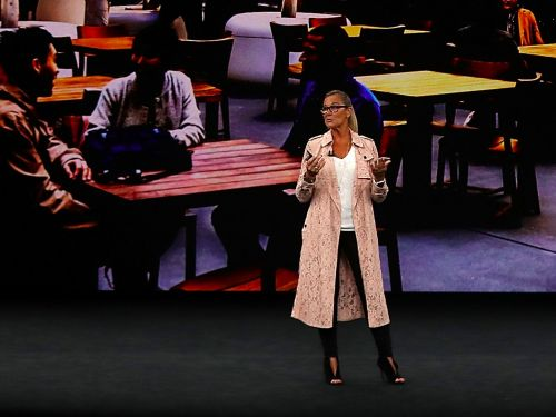 Check out the $2,900 coat Apple's retail boss just wore on stage at the company's annual hardware event