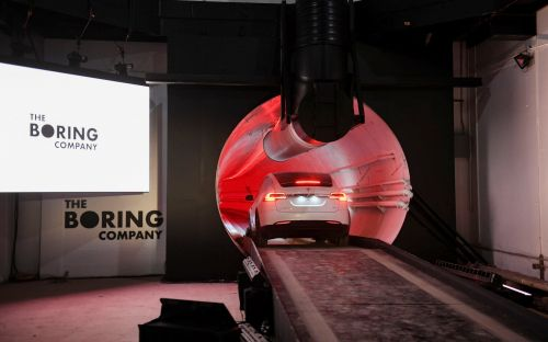 Elon Musk unveils landmark tunnel in Los Angeles in bid to eliminate city traffic