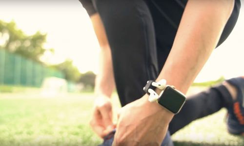 AirPod-holstering Apple Watch band is equal parts obnoxious and useful