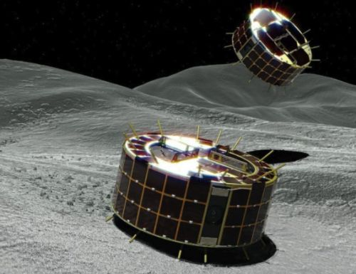 Japanese asteroid probe sends hopping rovers down to space rock's surface
