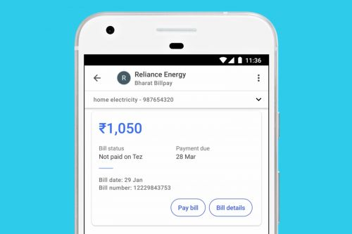 Google's Indian mobile wallet can pay bills in a few taps