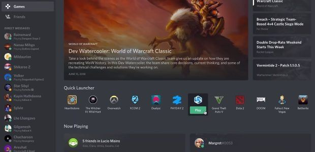 Discord's new Game Tab seems handy, and also metal?