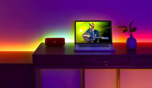This $34 LED strip light flashes in sync with music