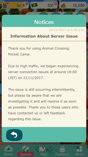 Nintendo Apologises for Animal Crossing Server Problems
