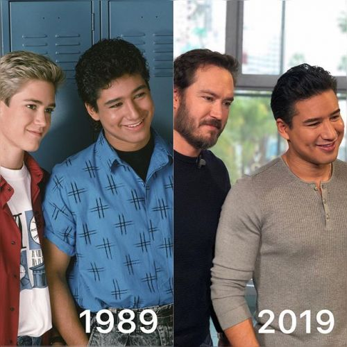 SAVED BY THE BELL's Zack and Slater Recreate Classic Photo 30 Years Later