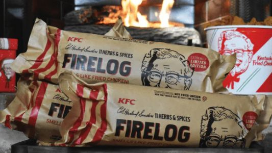 KFC's Firelog Thats Smells Like Its Fried Chicken Sold Out In Hours