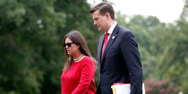 The White House arranged a hasty off-the-record meeting between Rob Porter and 4 reporters after abuse allegations came to light