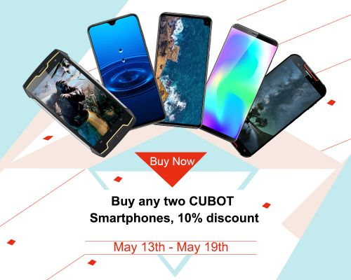 Buy 2 CUBOT phones and enjoy extra 10% discount