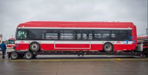 Toronto Transit Commission starts testing first of three battery-powered buses for its fleet