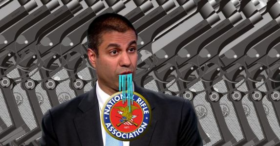 FCC chairman awarded gun from NRA for repealing net neutrality